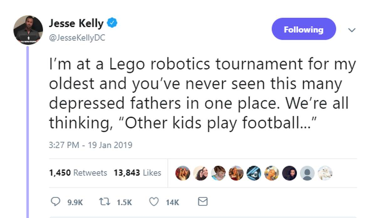 """PHOTOS: Houston talk radio host catches heat for tweets mocking son's robotics competition Conservative radio host Jesse Kelly caught some heat on social media over the weekend for a series of tweets that apparently mocked his son's robotics tournament in the Houston area. He told Chron.com on Monday that he's """"not sorry even a little bit"""" because he was joking. >>> See the backlash he faced online"""