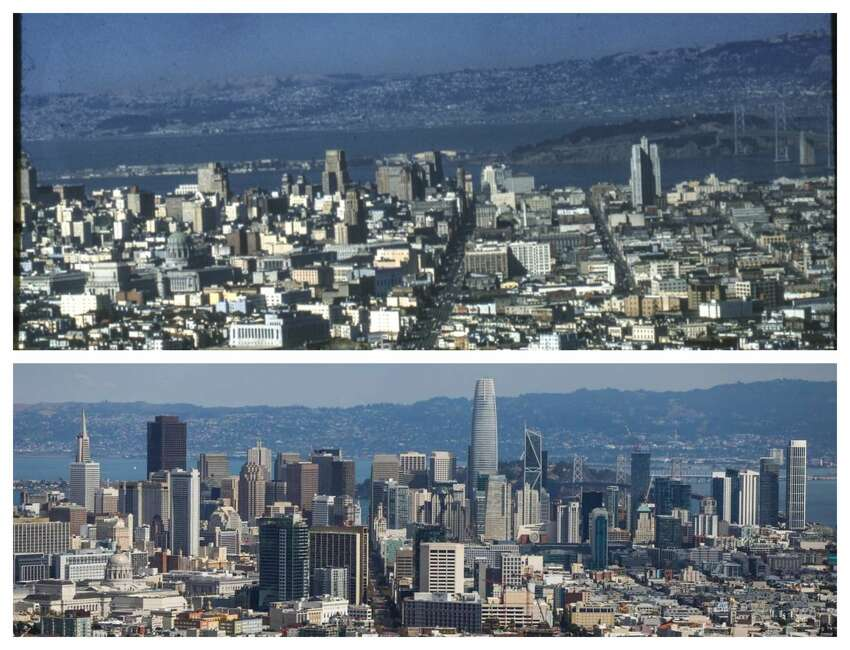 The view from Twin Peaks: Then and now Top: 1954 Bottom: Oct. 3, 2018