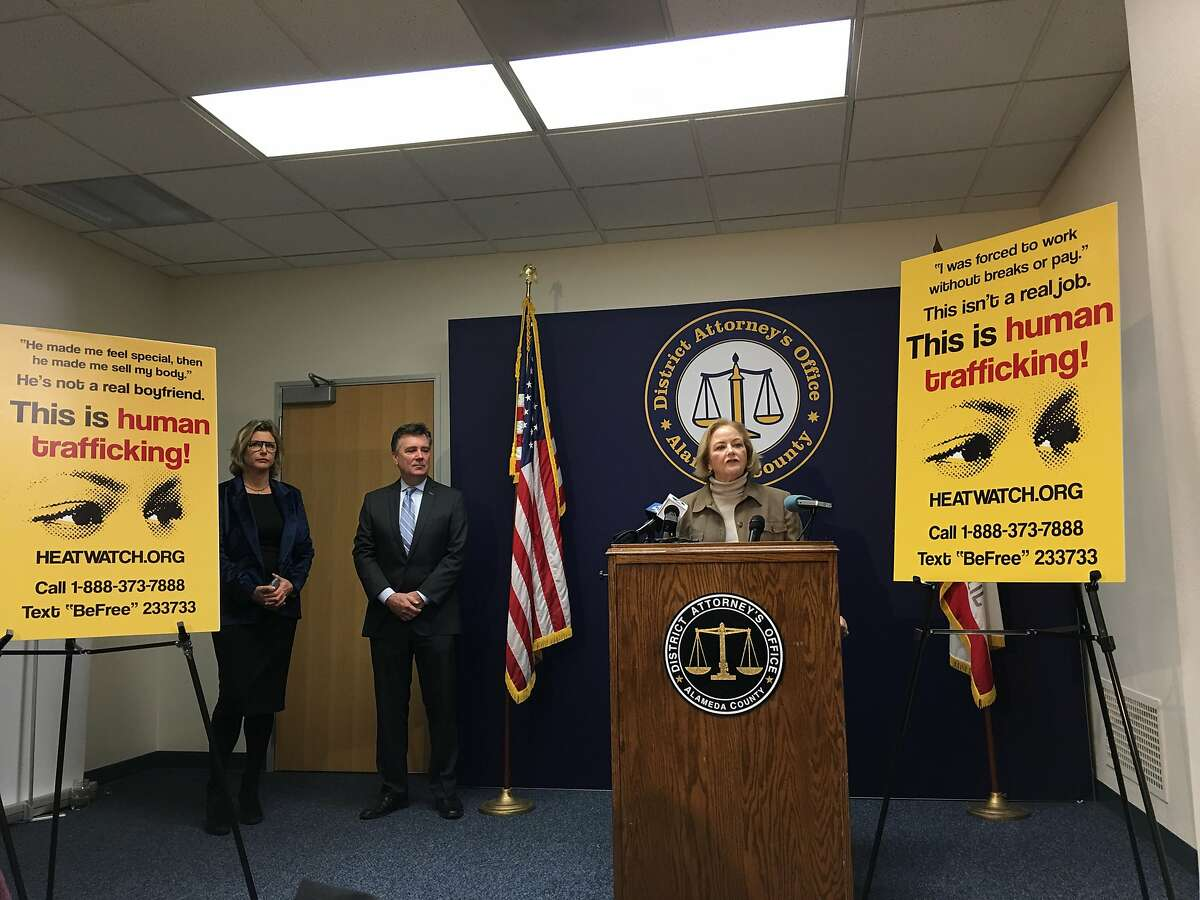 For the sixth-straight year Alameda County District Attorney Nancy O'Malley rolled out a line of billboards and bus shelter posters to illustrate the harms of human trafficking and connect victims to services.