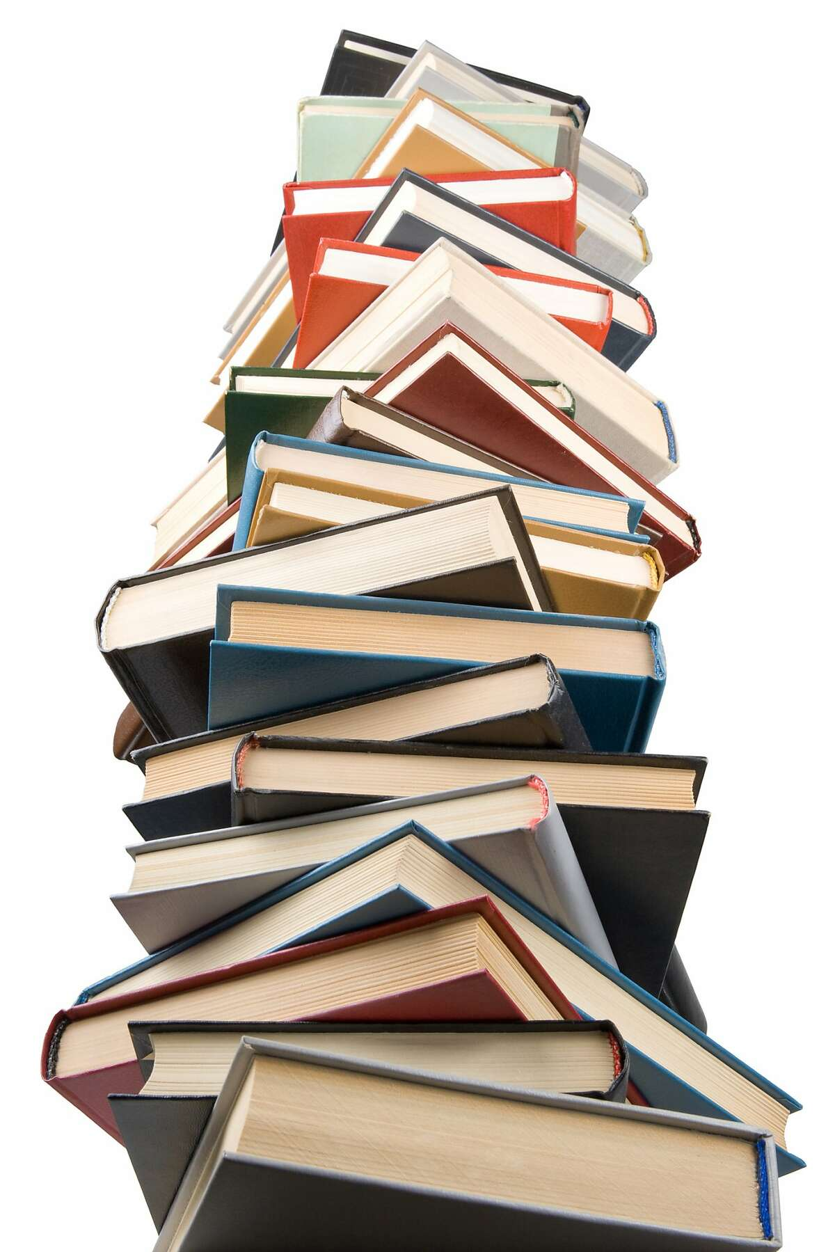 """Pile of books isolated on a white background. Concept for """"Back to school"""" FOTOLIA"""