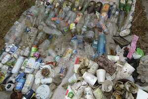 Trash collected during Surfrider and SkipThePlasticNorwalk.org cleanup Oyster Shell Park in January 2019.