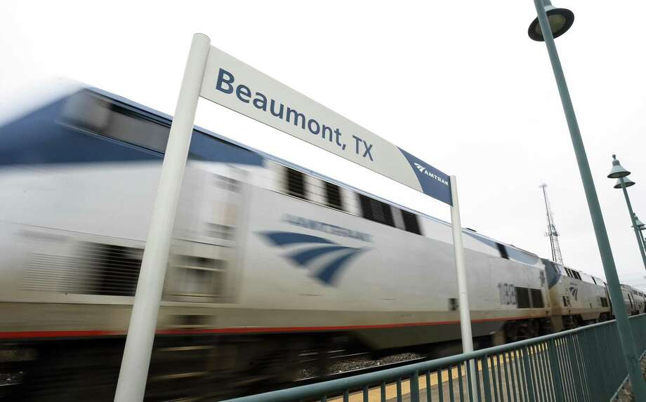 Amtrak's Sunset Limited train arrives at the Beaumont Station on Friday. The Jefferson County Commissioners are to be voting on whether to support making train service to Beaumont daily.