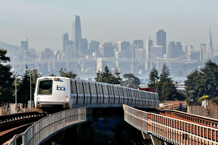 A train approaches MacArthur BART Station on Friday, November 2, 2018 in Oakland, Calif. Photo: Amy Osborne, Special To The Chronicle