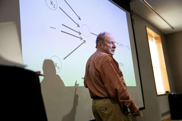 Hal Abelson, an MIT computer scientist, leads a session about artificial intelligence during a three-day gathering on artificial intelligence at the Massachusetts Institute of Technology in Cambridge, Mass., Jan. 15, 2019. Dozens of senior policymakers from countries in the 36-nation Organization for Economic Cooperation and Development gathered at MIT in an effort to develop rules for an AI policy. (Kayana Szymczak/The New York Times)