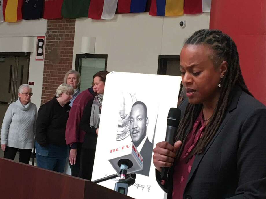 Beth Chandler was the speaker at the 19th annual Rev. Dr. Martin Luther King Jr. Community Breakfast in Branford on Monday, Jan. 21, 2019. Photo: Mark Zaretsky / Hearst Connecticut Media