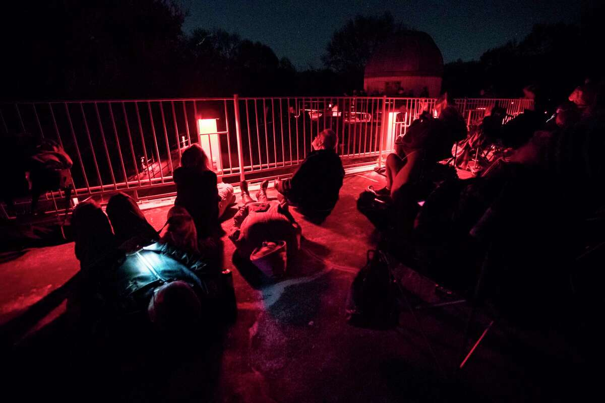 Members of the community and astronomy enthusiasts gathered at the George Observatory in the Brazos Bend State Park on Sunday, Jan. 20, 2019, to enjoy the view of the lunar eclipse from a place with little light contamination.