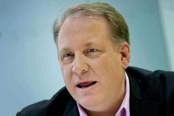 Curt Schilling a former Boston Red Sox pitcher, speaks during an interview in New York on Monday, Feb. 13, 2012.