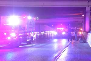 The victim's pickup broke down on Interstate 10 near Callaghan Road at about 11:45 p.m. on Jan. 22, 2019. When he got out of his truck, a motorcyclist struck him.