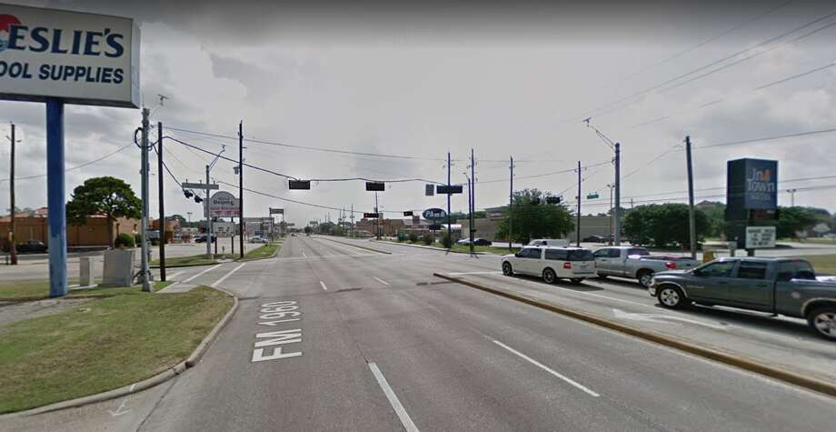 A gunshot victim was involved in a crash with a Spring ISD school bus at 1600 FM 1960 on Tuesday, Jan. 22, 2019. Photo: Google Maps