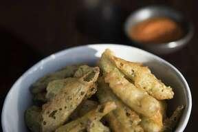 Fried okra at Kulture