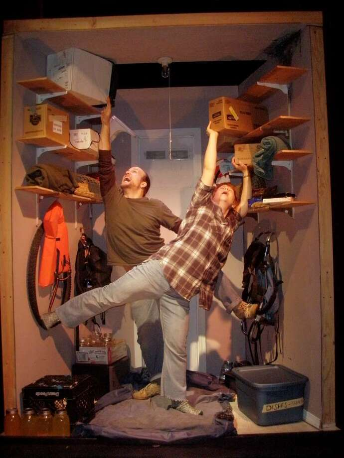 """Tyler Olsen and Zuzka Sabata created and will perform in """"Quake: A Closet Love Story"""" at Berkshire Fringe. (James Douglas)"""