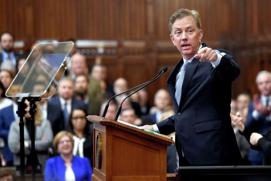 Gov. Ned Lamont delivers the State of the State address to a joint session of the Connecticut General Assembly in Hartford on Jan. 9. Photo: Arnold Gold / Hearst Connecticut Media / New Haven Register