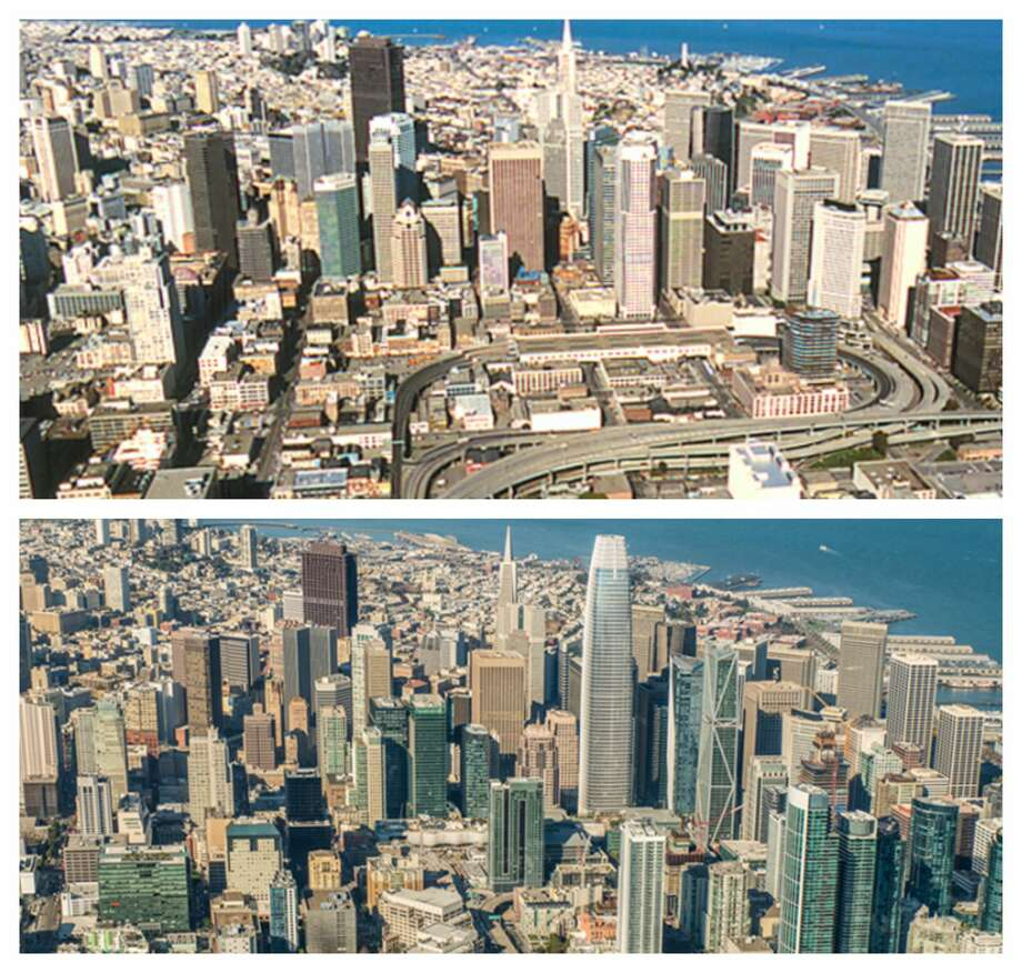 San Francisco skyline: Before and after: 1980s vs. 2017