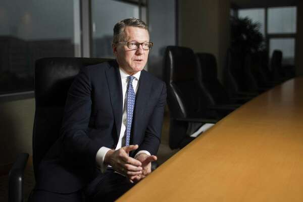 Mark Lashier president and chief executive officer of Chevron Phillips Chemical Company engages in an interview at the boardroom of the Chevron Phillips offices in The Woodlands, Wednesday, Jan. 2, 2019.