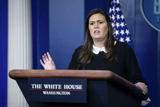 Sarah Sanders, White House press secretary, speaks during a press briefing in Washington, D.C., on Dec. 18, 2018.