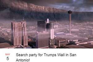 Thousands of people have expressed interest in a search party to find a border wall in San Antonio.