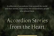"""An """"Accordion Stories from the Heart"""" book signing and mini-concert with author Angelo Paul Ramunni, creator of the New England Accordion Connection & Museum in Canaan, will take place Feb. 16 Newtown."""