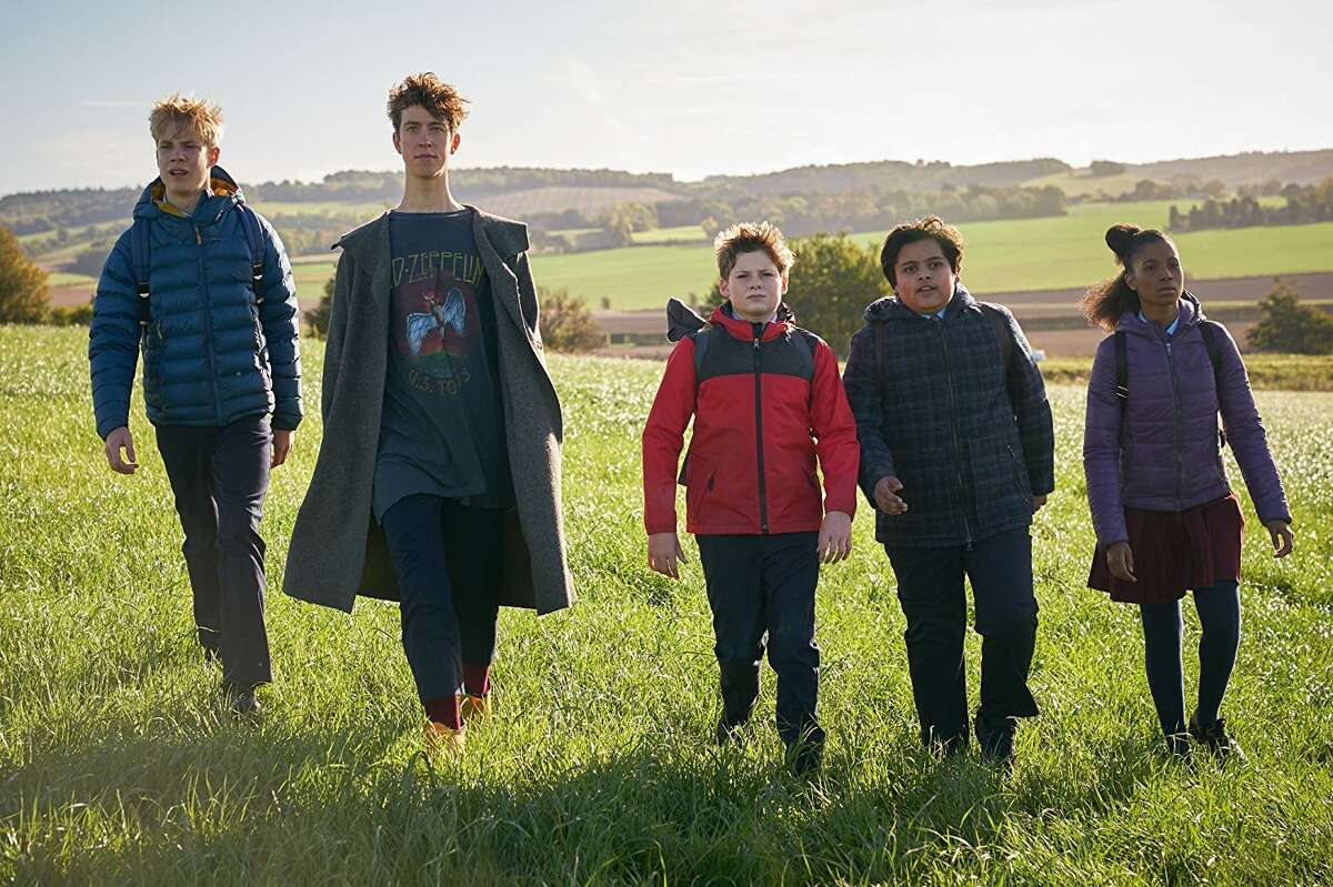 Angus Imrie, Louis Ashbourne Serkis, Tom Taylor, Rhianna Dorris, and Dean Chaumoo in 'The Kid Who Would Be King'