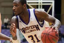 Former Edwardsville standout Garret Covington, shown during his playing days at Western Illinois University, is returning to Spain for his second professional season in the LEB Silver League. He will play for L'Hospitalet after playing last season for Arcos Albacete.