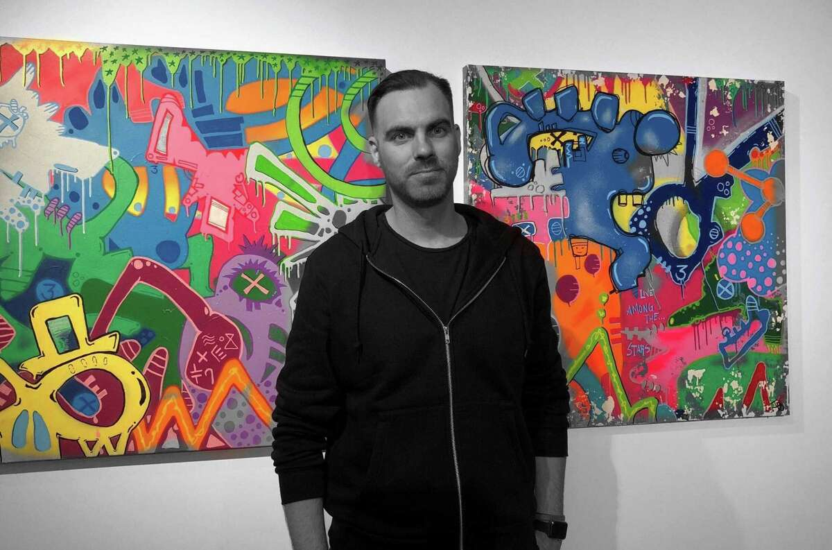 John Paul O'Grodnick is one of the artists exhibiting his work in