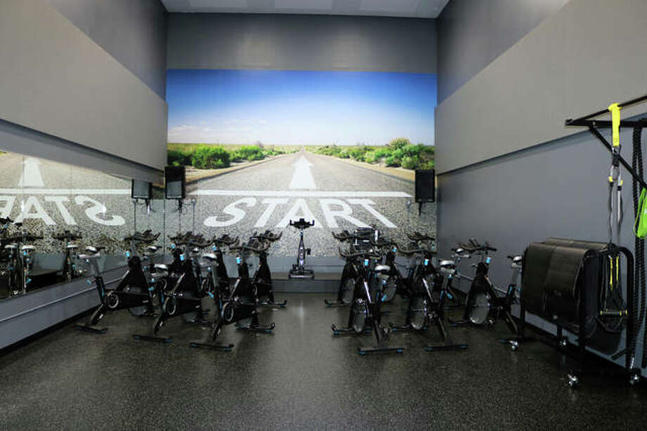 The newly opened Spin Studio sits ready for workouts at the Edwardsville YMCA Niebur Center. Photo: For The Telegraph