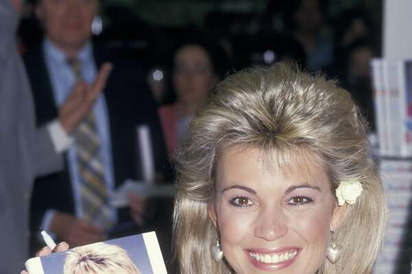 """NORWALK, CT - MAY 21: TV Personality Vanna White attending the book party for Vanna White """"Vanna Speaks"""" on May 21, 1987 at Caldor's in Norwalk, Connecticut. (Photo by Ron Galella/WireImage)"""