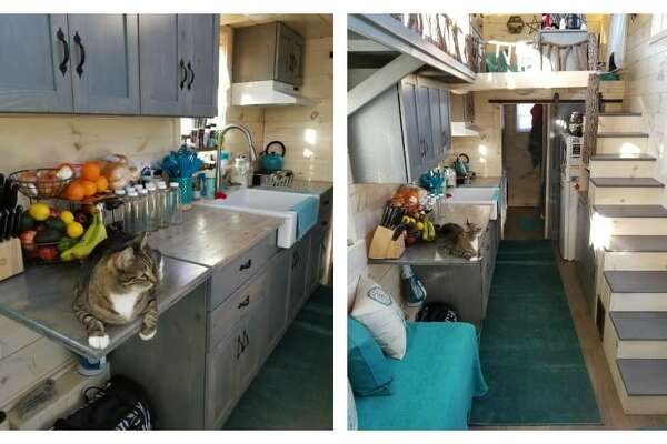der gets rid of stuff to move into a tiny home ... Raider Designer Tiny House on home designers, knitting designers, building designers, tiny houses on wheels,