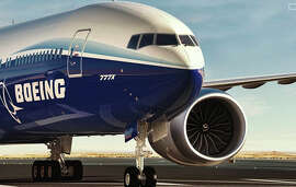 Boeing's new 777X has the biggest engines yet on its passenger aircraft.