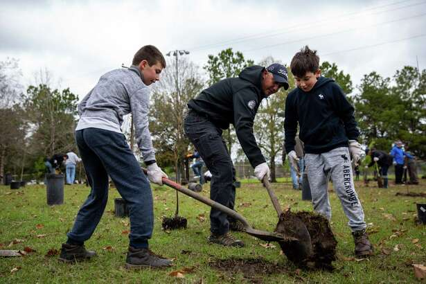 In celebration of Arbor Day, on Jan. 19 local nonprofit Trees For Houston, in conjunction with Memorial Park Conservancy and Houston Parks and Recreation Department, hosted their 4thannual Arbor Day community planting event. Shown here are community volunteers at Memorial Park Arbor Day Tree Planting 2019.