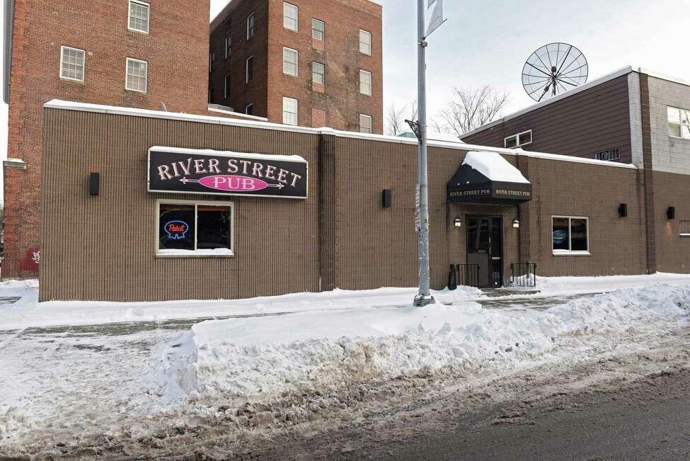 A man was shot near the River Street Pub early Tuesday, Jan. 22, 2019 in Troy, N.Y. (Lori Van Buren/Times Union)