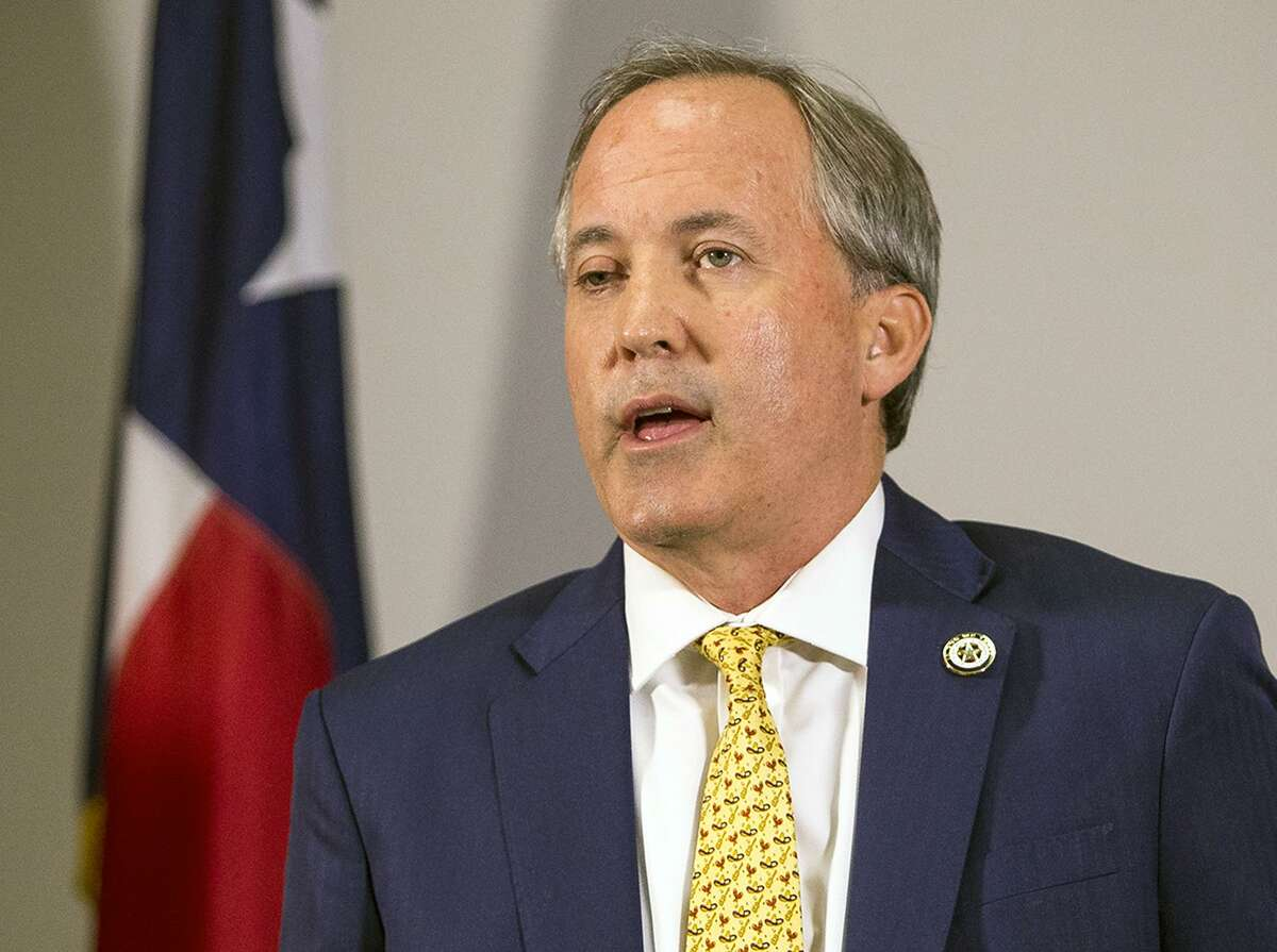 FILE - In this May 1, 2018, file photo, Texas Attorney General Ken Paxton speaks at a news conference in Austin, Texas. On Feb. 19, Paxton hailed a $236 million settlement of a long-running Medicaid fraud case as a victory for the state, noting it was