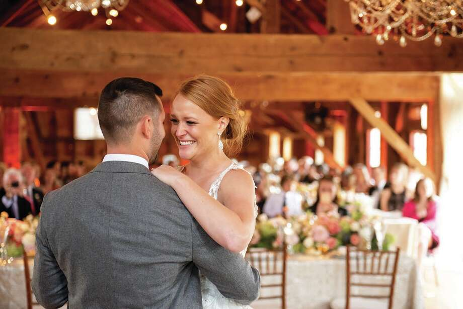 The wedding of Katy Kruse and Peter Krein at the Wedding Barn at Lakota's Farm on Sept. 30, 2018. Photo: Rob Spring Photography