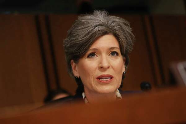 Sen. Joni Ernst, a Republican from Iowa, speaks during a Senate Judiciary Committee hearing on Jan. 15, 2019.