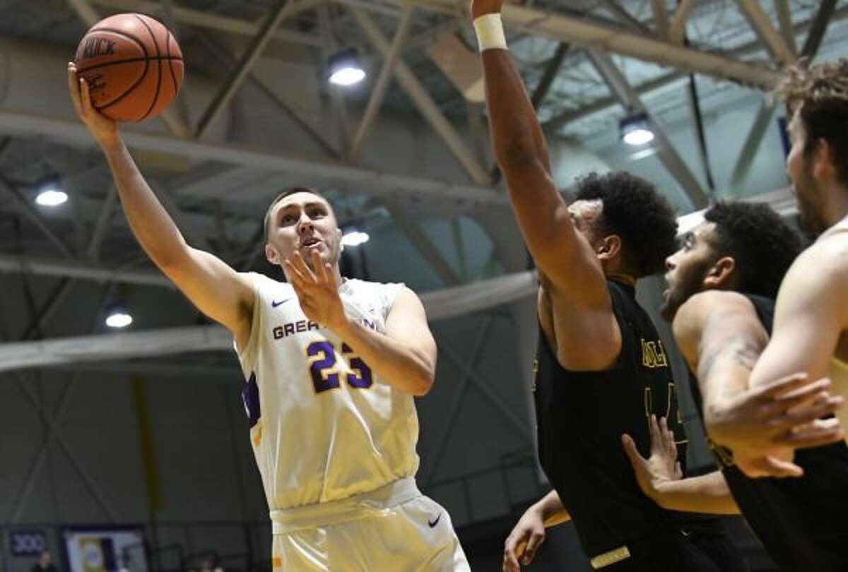 Philip Flory (23) was slowed by foot surgery during his season at UAlbany but found success at Division III Wisconsin-Stevens Point. (Hans Pennink / Special to the Times Union)