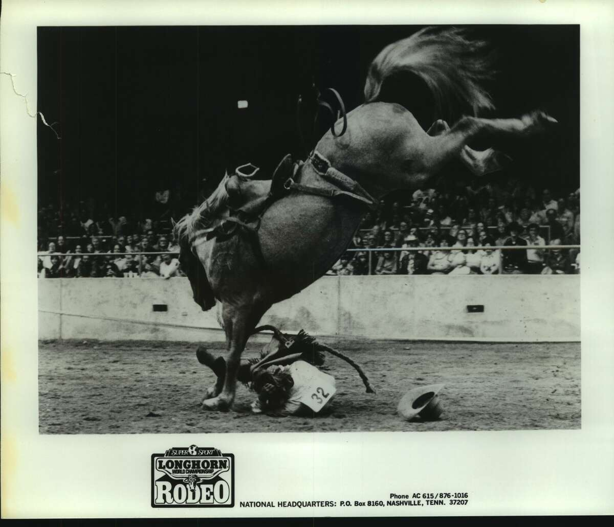 Tough livestock including three world champion broncs will challenge the ability of professional cowboys November 12-14 when Levi Strauss and Company presents the first Longhorn World Championship Rodeo at Freeman Coliseum in San Antonio. rodeo 1982