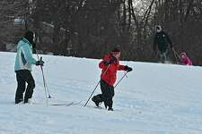 People enjoy the new snow by cross country skiing and sledding at Frear Park on Tuesday, Jan. 22, 2019 in Troy, N.Y. (Lori Van Buren/Times Union)