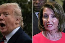 President Donald Trump is seriously misplaying his hand in his continuing battle over the border wall with House Speaker Nancy Pelosi, right. She is winning.