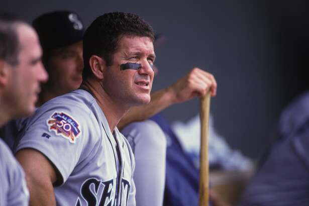 Edgar Martinez of the Seattle Mariners during a baseball game against the Baltimore Orioles on May 20, 1997 at Camden Yards in Baltimore, Maryland.