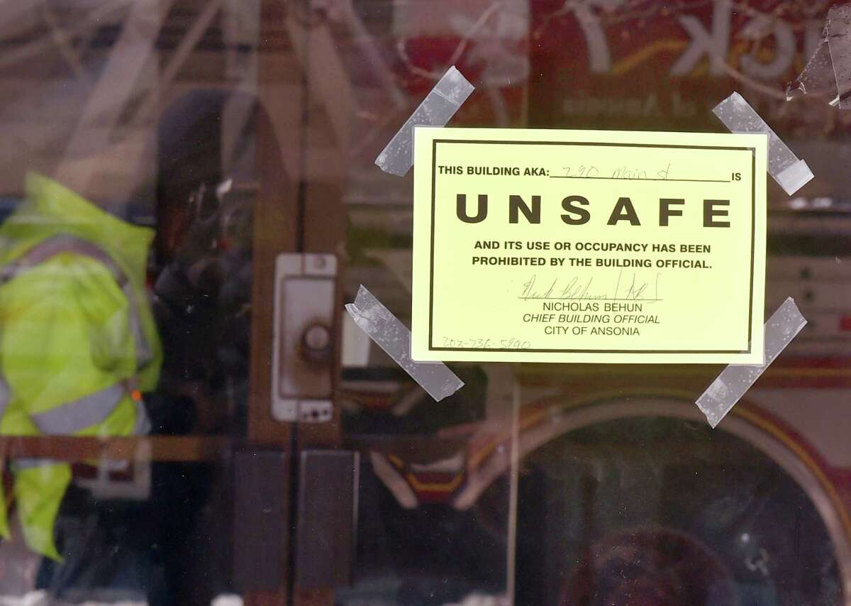 Ansonia, Connecticut - Tuesday, January 22, 2019: The apartment building at 290 Main Street in Ansonia is declared unsafe for occupancy by the city because of burst water pipes where approximately 20 people were temporarily relocated from the building Tuesday morning to the Joseph A. Doyle Senior Center in Ansonia.