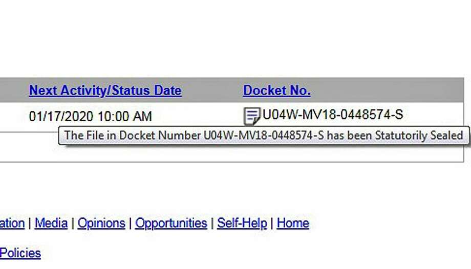 A screenshot of the case file for Paul Lucke indicated it could not be viewed and had been statutorily sealed. Photo: Contributed Photo / Screenshot Of Court Records / Connecticut Post Contributed