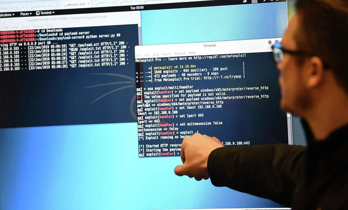 A technician works on a protective cybersecurity system.The Houston metro area, which includes The Woodlands and Sugar Land, lost 2,326 tech industry jobs between 2017 and 2018. >>>CONTINUE to see the top 20 cities for tech professionals.