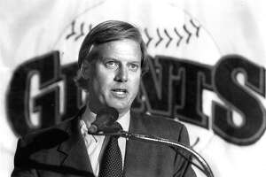 Peter Magowan, one of the major investors who would help keep the Giants in San Francisco,  makes an announcement about a new General Manager December 1, 1992