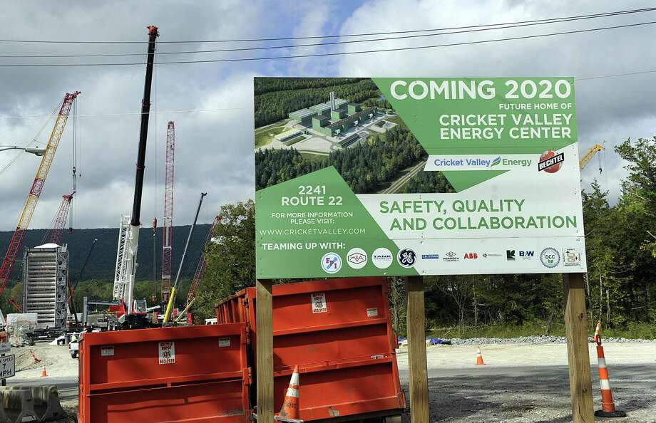 Cricket Valley Energy Center is under construction in Dover, N.Y., in September, prompting concerns and outrage from Connecticut residents just over the state line. Photo: Hearst Connecticut Media File Photo / The News-Times