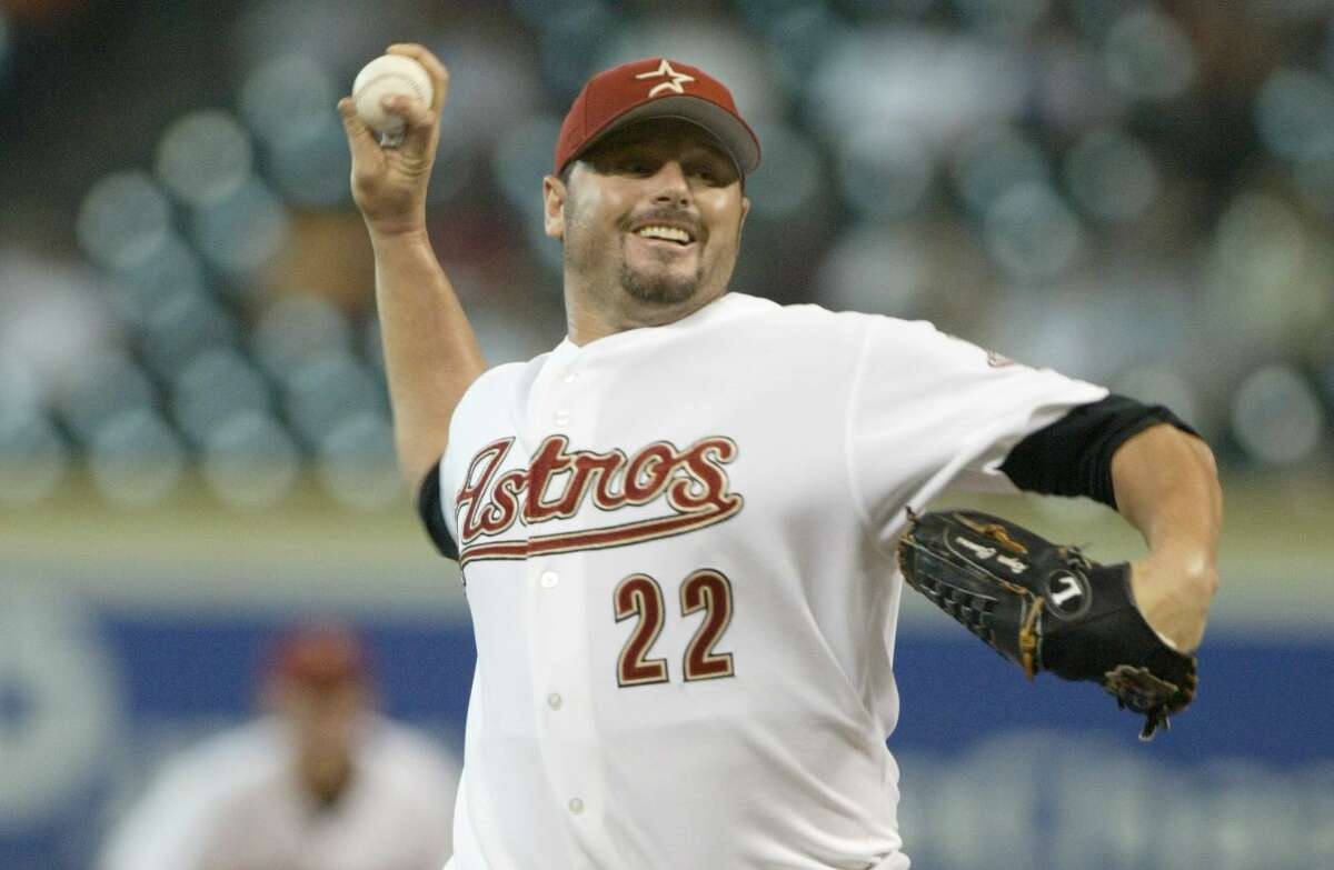Roger Clemens won his seventh Cy Young Award in 2004, the first of his three seasons with the Astros.
