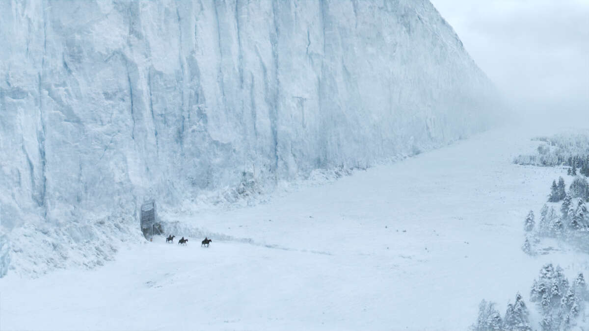 image of the Northern wall from the HBO series Game of Thrones credit: HBO