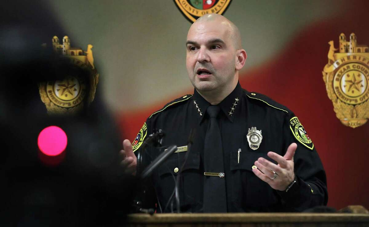 Bexar County Sheriff Javier Salazar discusses his agency's investigation into the Jan. 10 shooting deaths of Nichol Olsen, 37, and Olsen's 16-year-old and 10-year-old daughters. The three were found shot to death in a luxury home inside a gated residential development near Leon Springs in far northwest Bexar County.