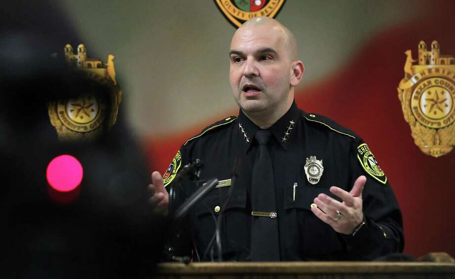 During a press conference on Jan. 28, 2019, Sheriff Javier Salazar talked about recent mistakes at the Bexar County Jail, including mistakenly releasing two inmates. Photo: Bob Owen /San Antonio Express-News / ©2019 San Antonio Express-News