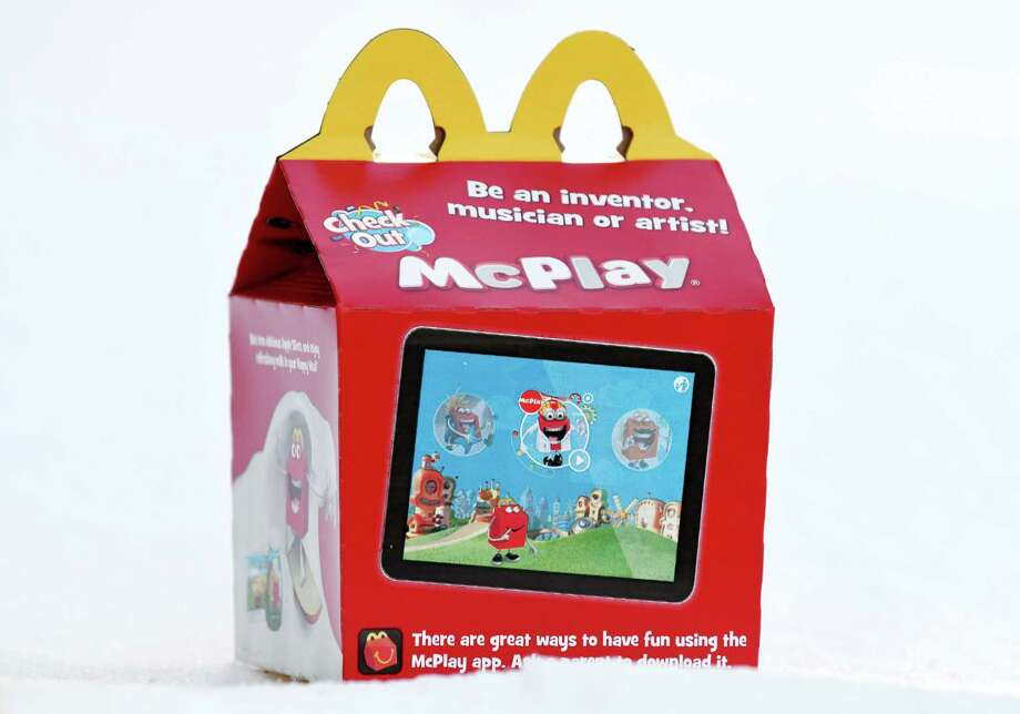 A McDonald's Happy Meal is shown on Tuesday, Jan. 22, 2019, in Colonie, N.Y.  Legislation making its way through the Capitol would let the state DOH regulate the nutrition of kids' meals that come with a toy. (Will Waldron/Times Union) Photo: Will Waldron