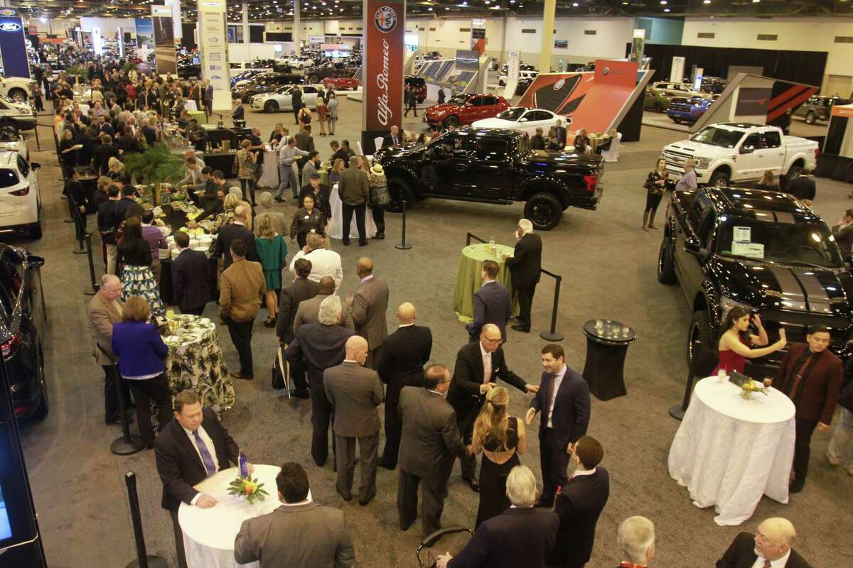 VIP night at the Houston Auto Show at NRG Center.