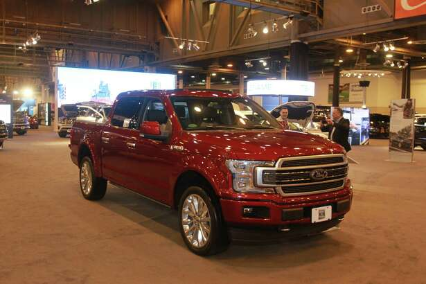 A 2019 Ford F150 at the Houston Auto Show at NRG Center.